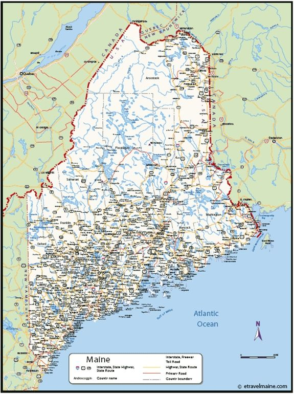 Map Of Maine Coastline Towns.Map Of Maine Coastline Maine Map Map Of Maine Town City Maine Map