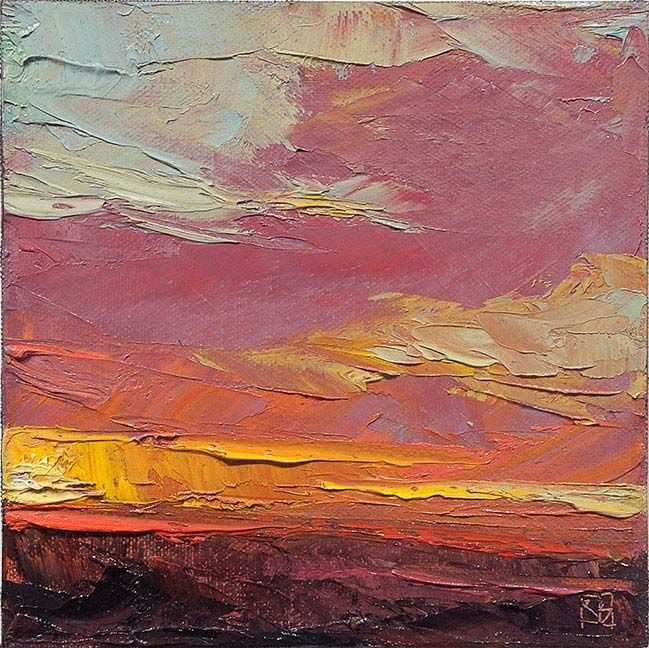 """RICH BOWMAN - Fallen Sun...""""... inspired by the sky and its endless, ever-changing expressions. Its colour transitions, temperatures, shapes, cloud formations and sheer vastness has always captured my imagination and drawn my focus."""""""