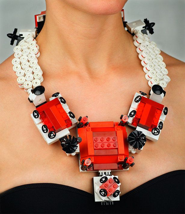 Couture Jewelry made from LEGOS