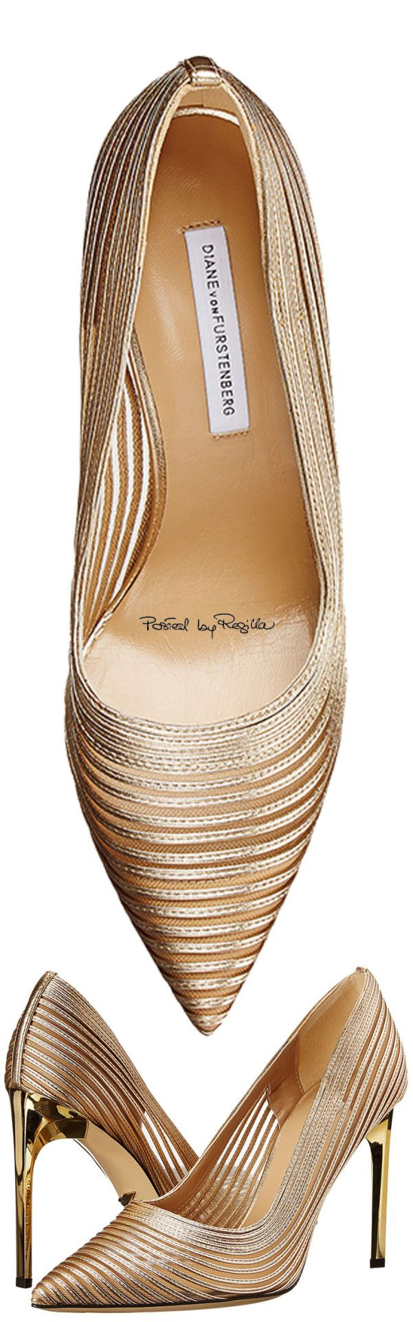 A favorite pair of designer/socialite Diane vonFurstenberg's heels   Regilla ⚜ Una Fiorentina in California