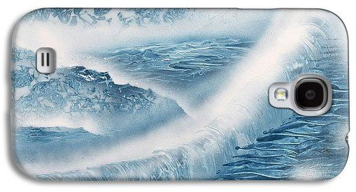 Waterfall From Heaven Galaxy S4 Case Printed with Fine Art spray painting image Waterfall From Heaven by Nandor Molnar (When you visit the Shop, change the orientation, background color and image size as you wish)