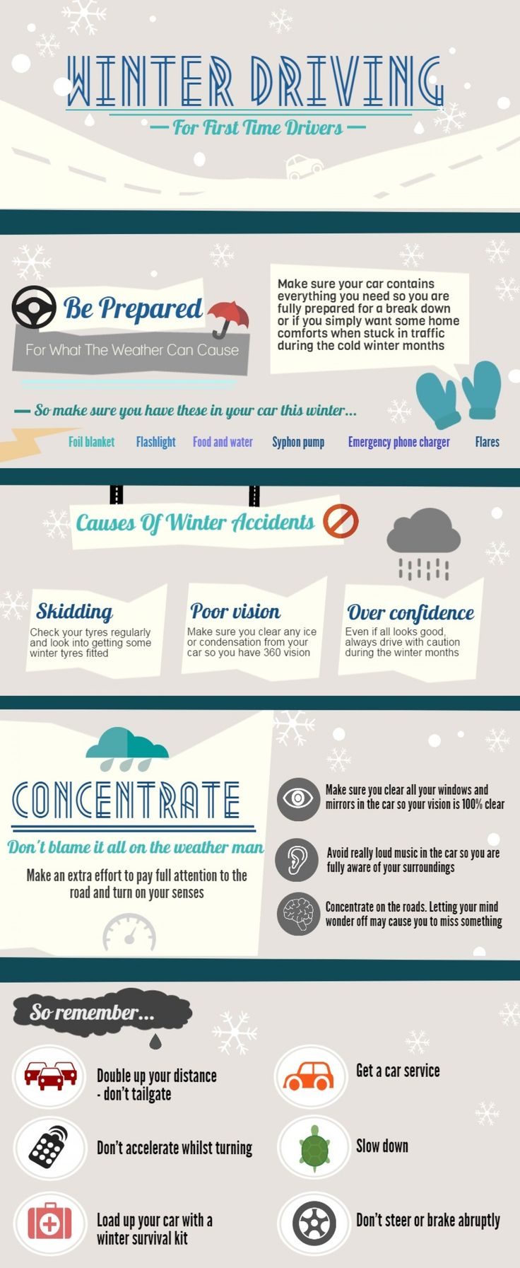 Infographic / / Winter Driving Tips for New Drivers