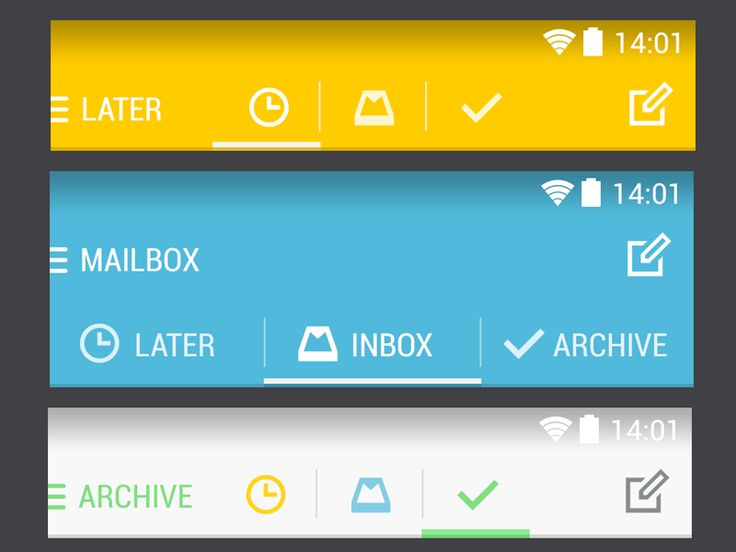 Let's use More Android UI Patterns for Mailbox