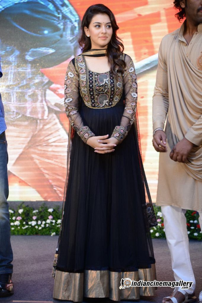 Hansika Motwani - Hansika-at-Doosukeltha-Audio-launch-(5) love the full sleeved black anarkali.