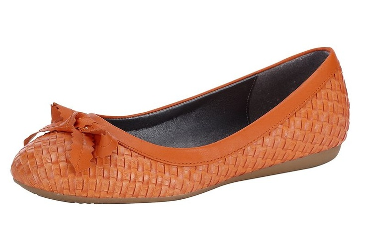 #HeineShoppingliste Ballerina in angesagter Flecht-Optik in orange