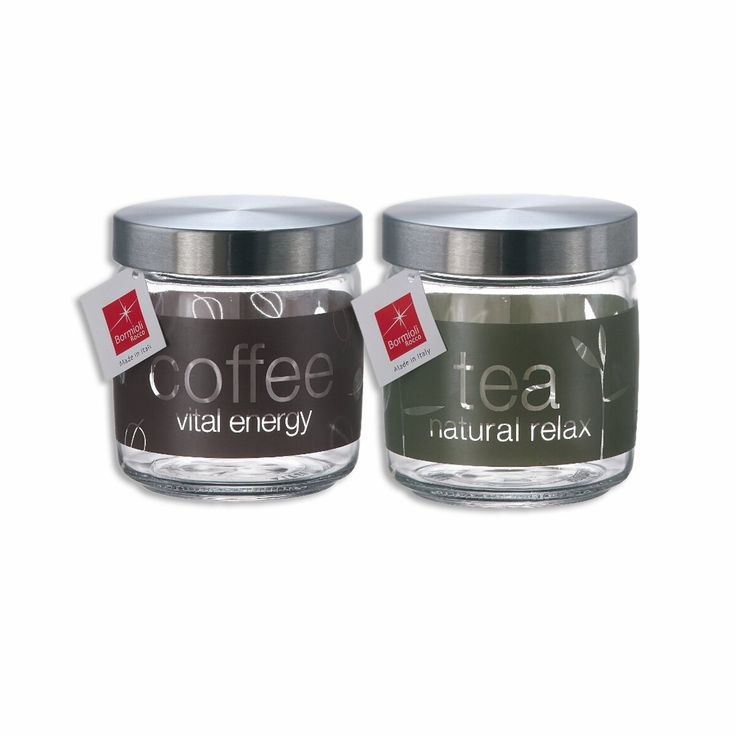25.5oz Giara Natural Tea and Coffee Jars with Metal Lids