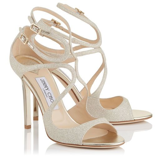 The LANG Platinum Ice Dusty Glitter Sandals  **Dreamy**