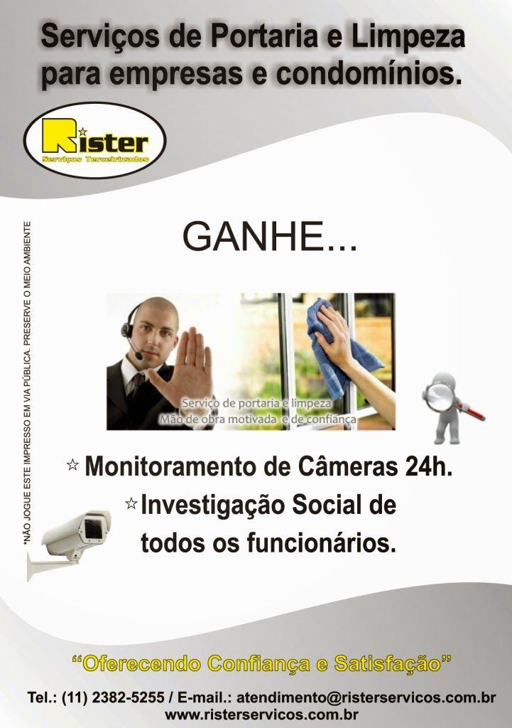 Rister Serviços Terceirizados: Serviços de Portaria e Limpeza em Guarulhos
