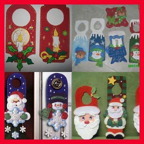 #adornos de navidad para colocar en las puertas en foami