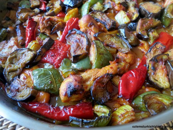 308 best turkish food images on pinterest turkish food recipes merhaba all we had a delightful turkish cookery class at the weekend and this baked eggplant or aubergine kebab with chicken onions and peppers was a forumfinder Gallery