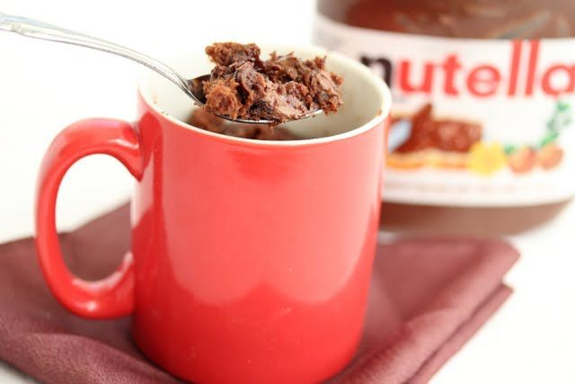 nutella lava brownie mug cake
