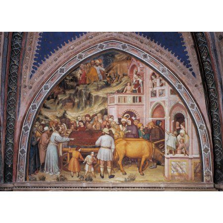 Ames Episode No 7 Miracle Of The Wild Bulls And Arrival Of St James Body To The Realm Of Queen Lupa Canvas Art - (36 x 24)