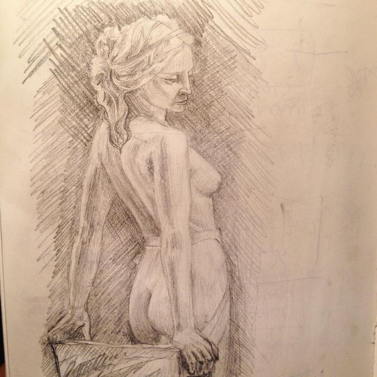 Обнаженная в вуали Э. Фиаски. Все-таки женская натура эстетичнее мужской даже для меня  Sculpture of a nude girl in a vail by E. Fiaschi. Nude girls are more estetic than bearded old jews ;) #hatemondays #fiaschi #draw #art #pencil #nude #pencil #boobs #veil #girl #leuchtturm1917
