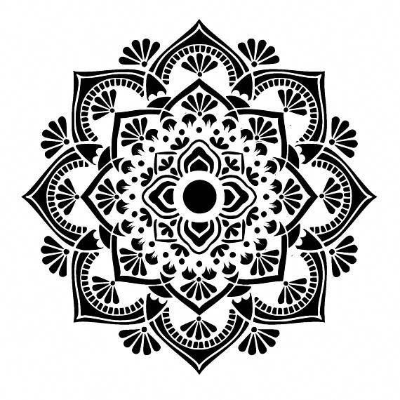 Hand Mandala Tattoo Mandalatattoo Mandala Schablonen Hand Tattoo Schablonen