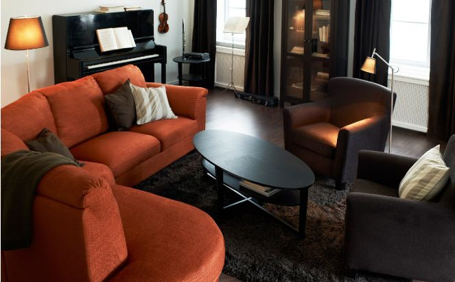 Ikea living room concept - I really like the seating arrangement.