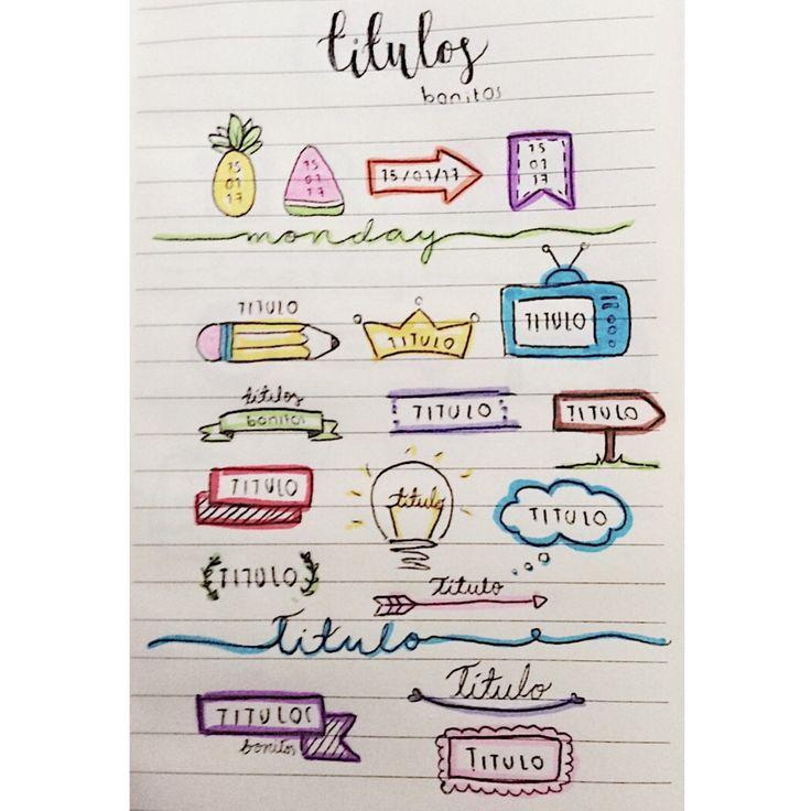 25 melhores ideias de titulos para cuadernos no pinterest for Decoraciones para trabajos