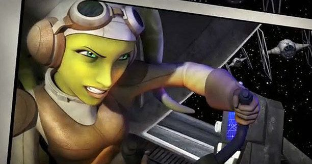 Star Wars Rebels Introduces Twi'lek Pilot Hera -- Vanessa Marshall voices this female character, who pilots her ship Ghost as part of the forming Rebel Alliance in the upcoming Disney XD animated series. -- http://wtch.it/8WMtX