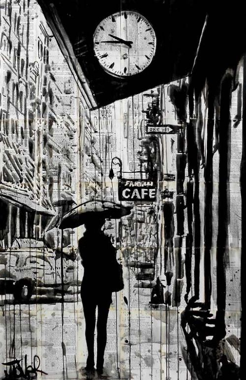 Loui Jover - Drawings on Vintage Books - Cultation