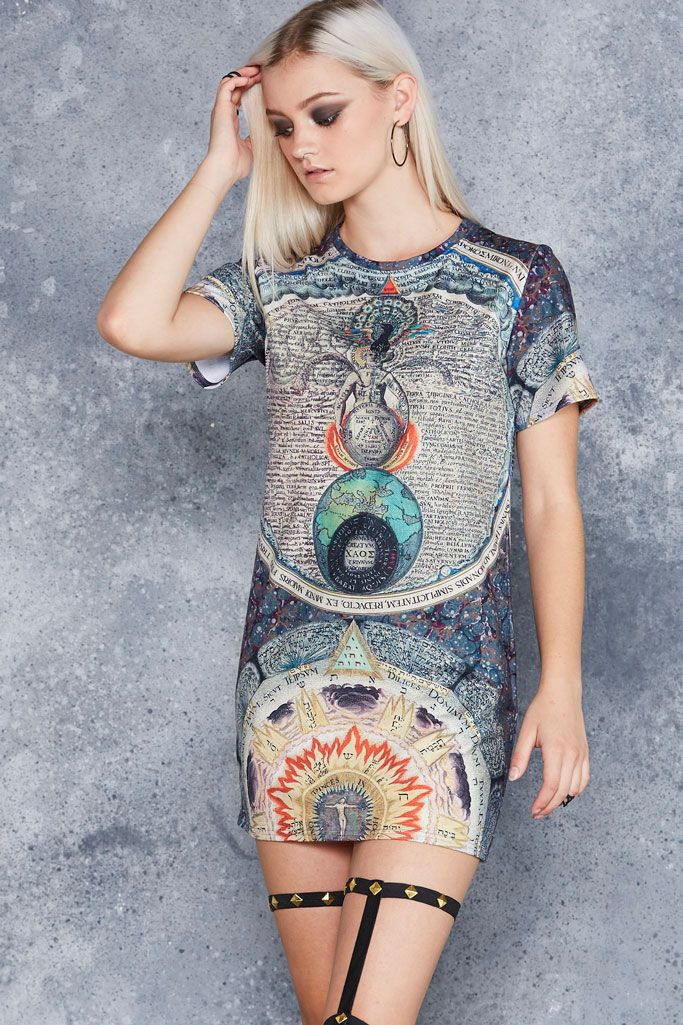 Eternal Wisdom Tee Dress - 48HR ($80AUD) by BlackMilk Clothing