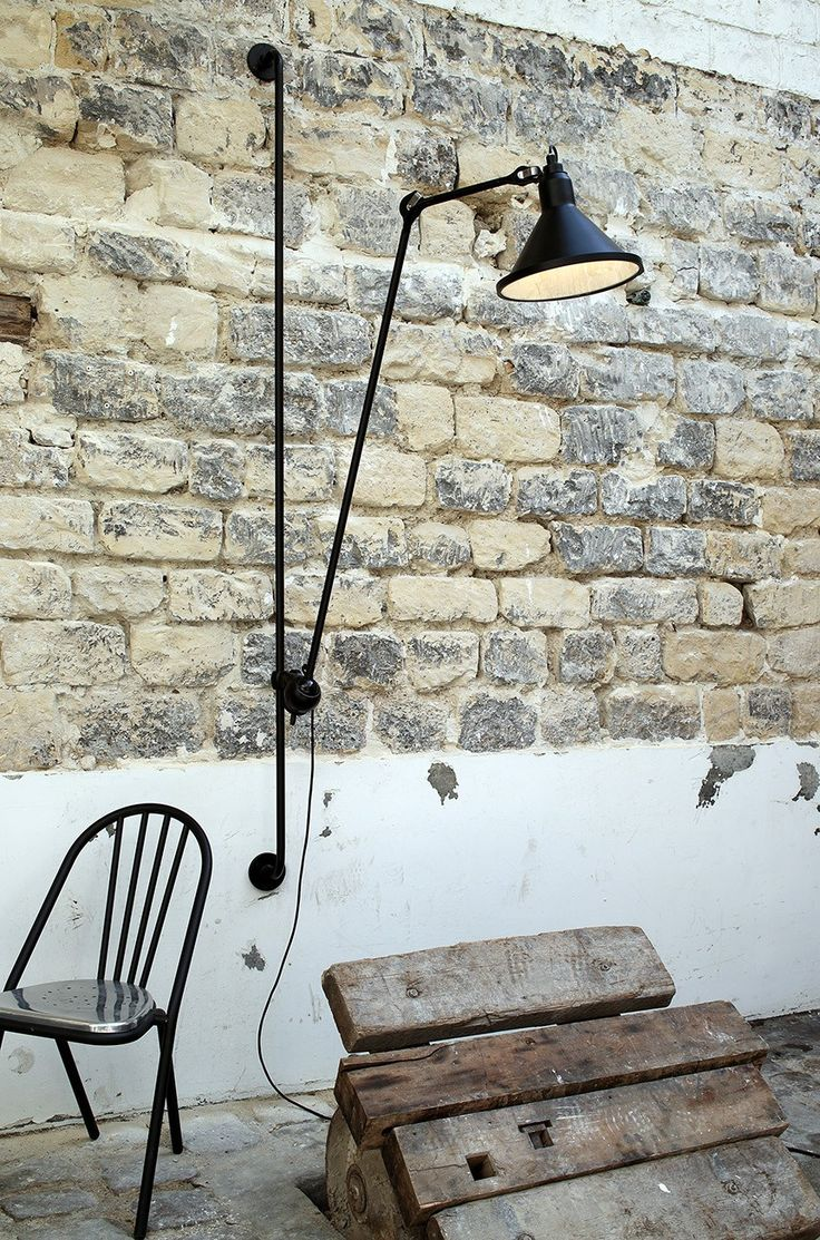 Adjustable steel wall lamp by DCW éditions design Bernard-Albin Gras