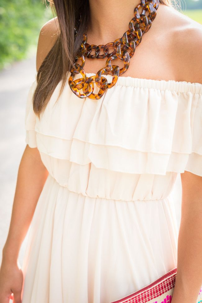 tortoise chain necklace - a southern drawl
