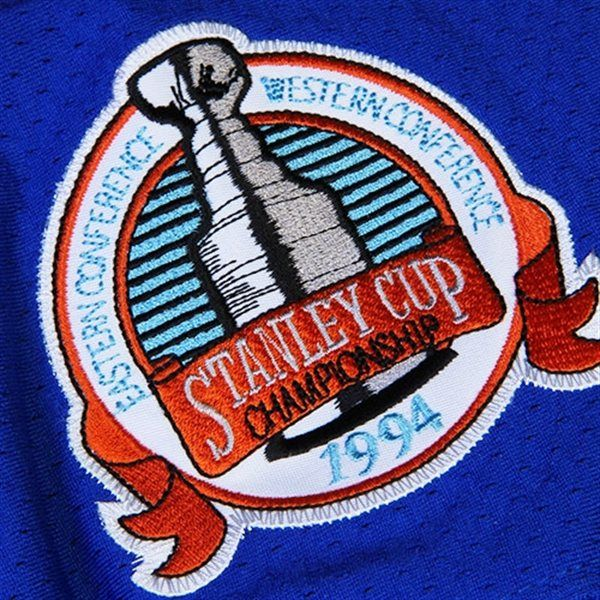 ... 1994 Stanley Cup Championship Patch from Mark Messier New York Rangers  Mitchell Ness Throwback Authentic ... e42a40924