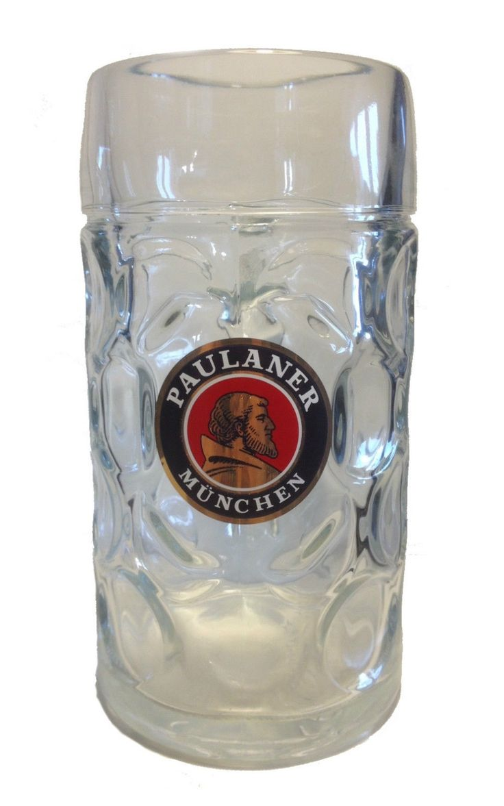 Paulaner - German Beer Glass 1.0 Litre Stein - Masskrug - NEW