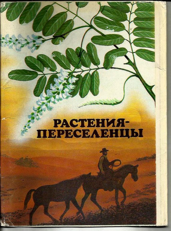Plants  Settlers  Postcards Vintage Russian  set of by LucyMarket, $20.00