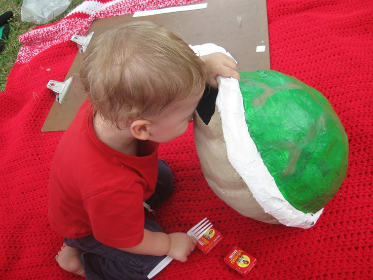paper mache balloon turtle shell
