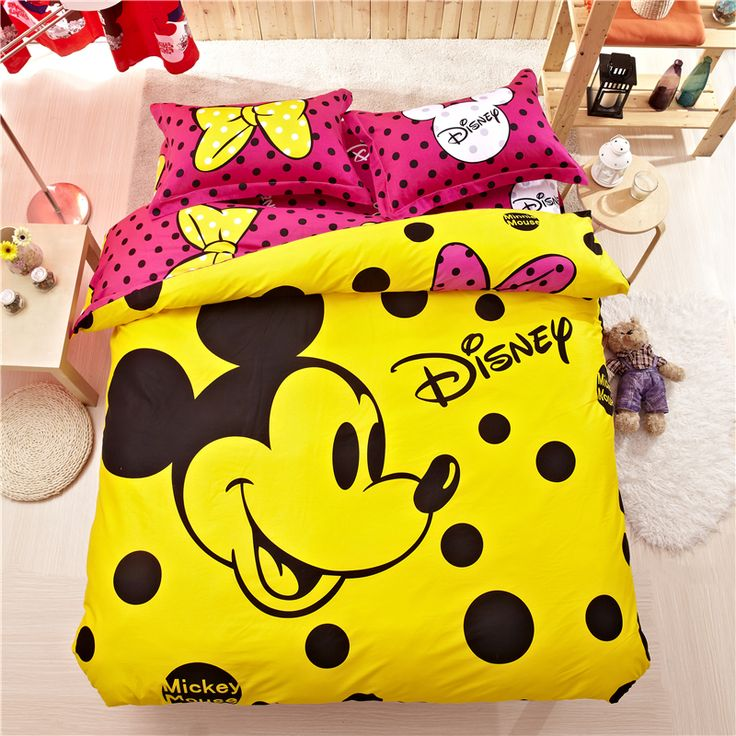 Best 25 yellow comforter ideas on pinterest yellow spare bedroom furniture yellow bedding - Mini mouse bedroom ...