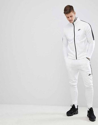 Nike Tribute Skinny Tracksuit in White  16fe6f39c