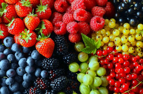 A rainbow of sweetness! Fruit is YUM! #FRUIT