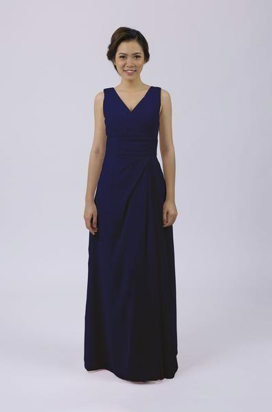Long Classic Bridesmaid Dress