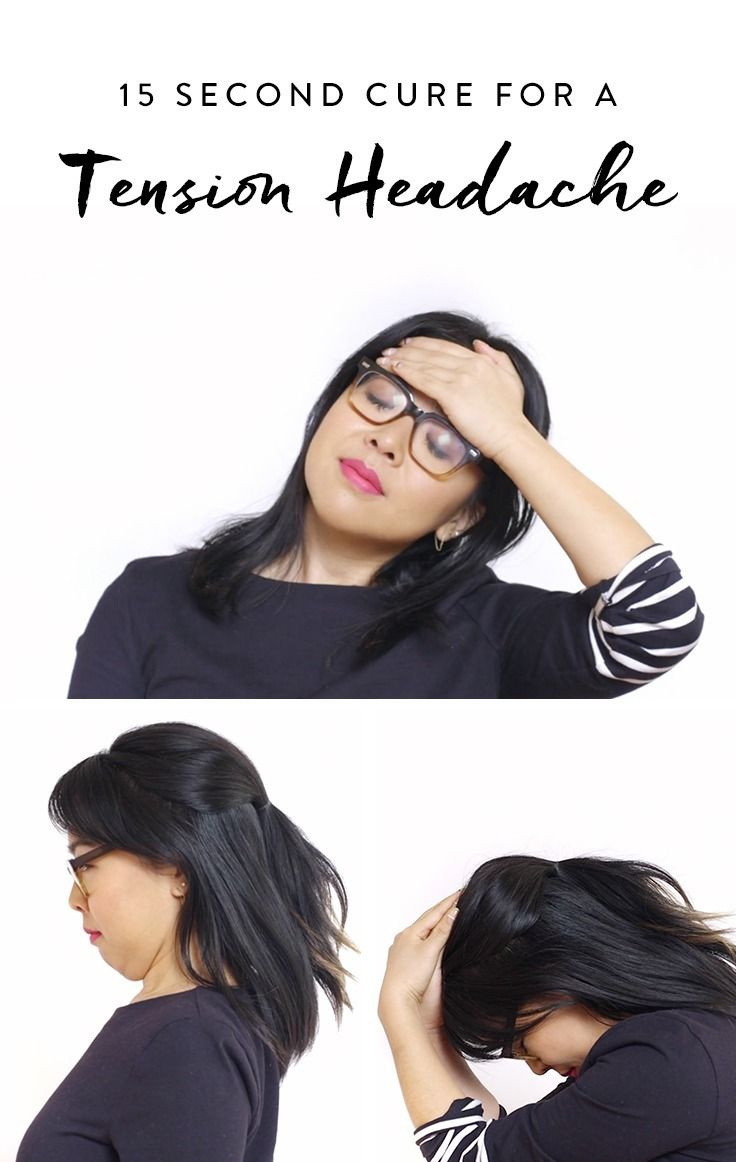 Learn this 15 second cure for a tension headache you can do without leaving your seat.