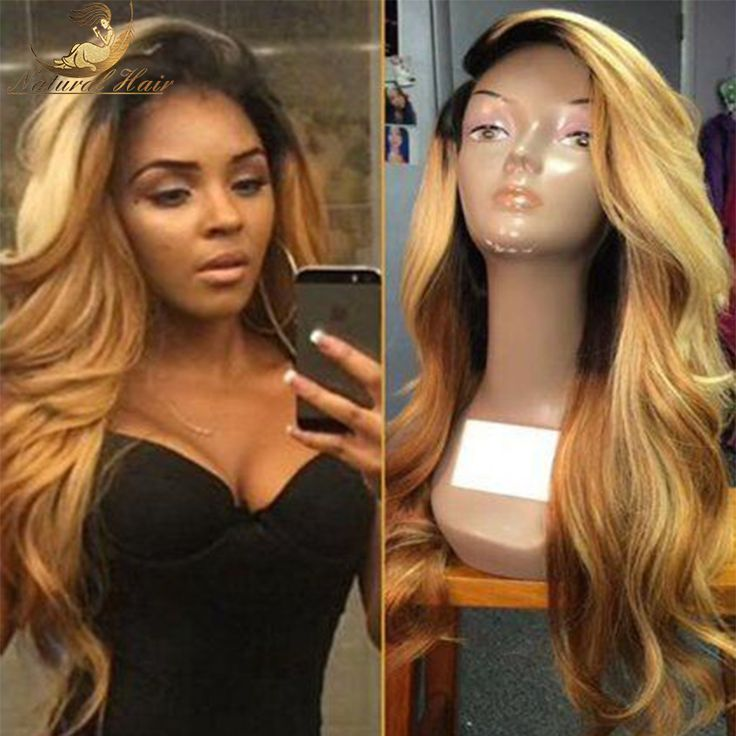 7A Full Lace Human Hair Wigs for Black Women Glueless Full Lace Wigs Brazilian Virgin Hair Ombre Colour Lace Front Human Hair