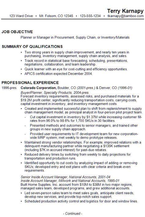 resume sample for global sales