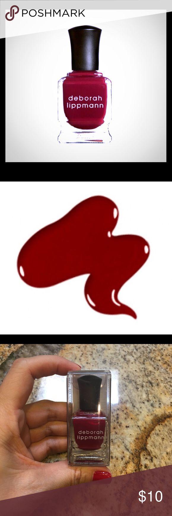 "NIB Deborah Lippmann Nail Polish Gorgeous ""Lady is a Tramp"" nail polish from celebrity manicurist Deborah Lippmann. This red is ""classic with a side of temptation""! Brand new in box! Bundle and save! deborah lippmann Makeup"