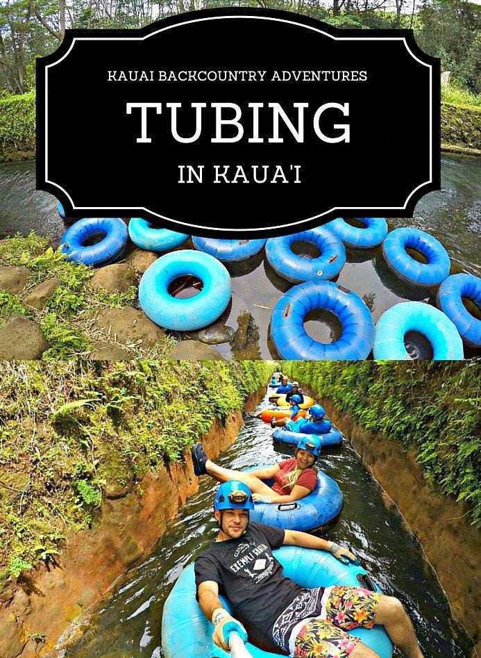 One of the Top Things To Do on Kaua'i with the kids: Tubing on an old sugar plantation. Great fun for everyone! (Kaua'i Activities)