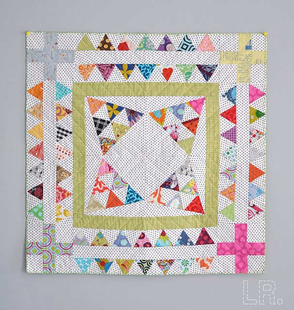 Triangle Mini Finished! by LRstitched, via Flickr