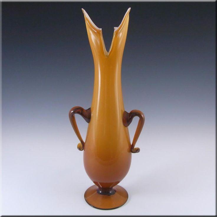Cristalleria Fratelli Betti/Alrose Italian Empoli Glass Vase - £26.99
