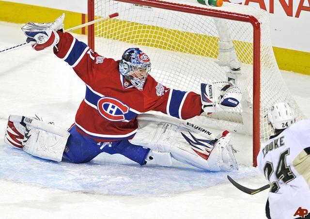 carey price saves | Montreal Canadiens' goaltender Carey Price makes a glove save on ...
