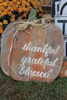Pumpkin Quote Reclaimed Wood Pallet Sign by MrsSBarefootStudio