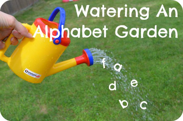 The Pleasantest Thing: Watering An Alphabet Garden: An Early Literacy Game