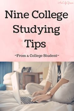 Do you have college exams coming up soon? Here are a nine tried and true college studying tips to help you make the grade in college! Click to see how!