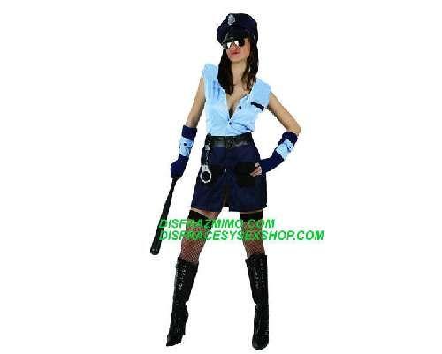 Tu mejor disfraz policia mujer xl.Con este uniforme de policía serás la máxima autoridad de Fiestas de Disfraces y la más sexy en Carnaval o Despedidas de Soltera.