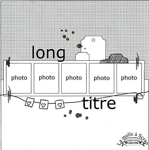 5 photos scrapbook sketch