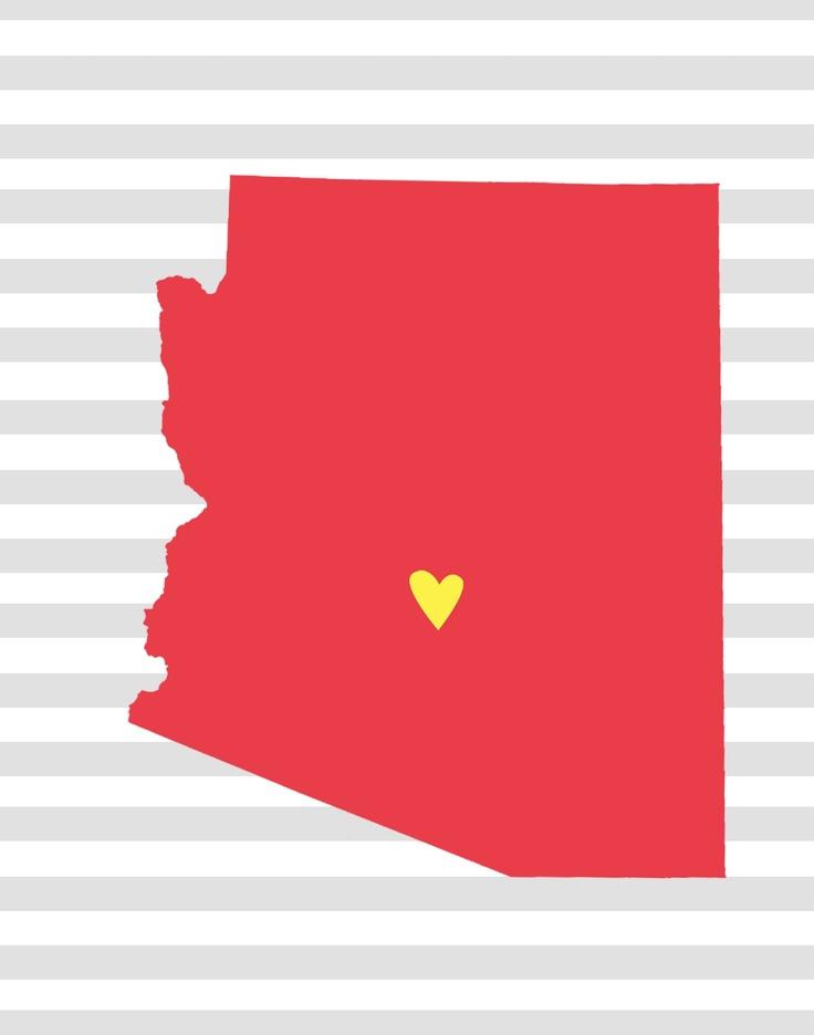 """I love Arizona"" free download {print!!!}Sweets Home, Ideas, States Printables, 50 States, Free Download, Arizona, Freeprintables, Free Printables, Vintage Lemon"