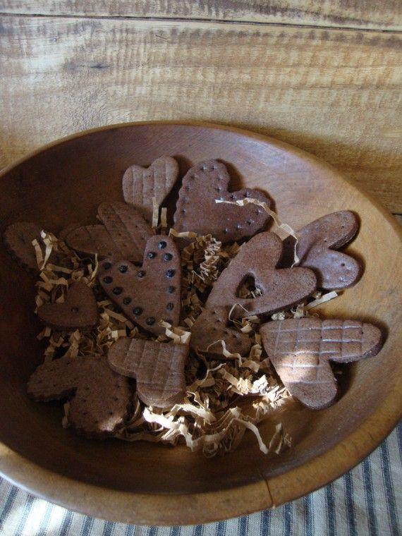 Cinnamon Salt Dough Heart Bowl Fillers by AllRoadsLeadHome on Etsy, $12.00