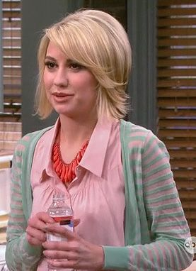 Riley's green striped cardigan on Baby Daddy.  Outfit Details: http://wornontv.net/18048/ #BabyDaddy