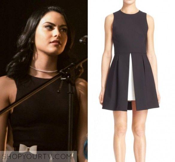 Riverdale: Season 1 Episode 13 Veronica's Black Split Front Dress | Shop Your TV